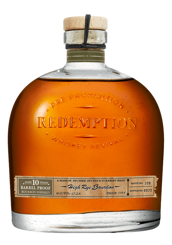 Redemption 10 Year Old Barrel Proof High Rye Bourbon