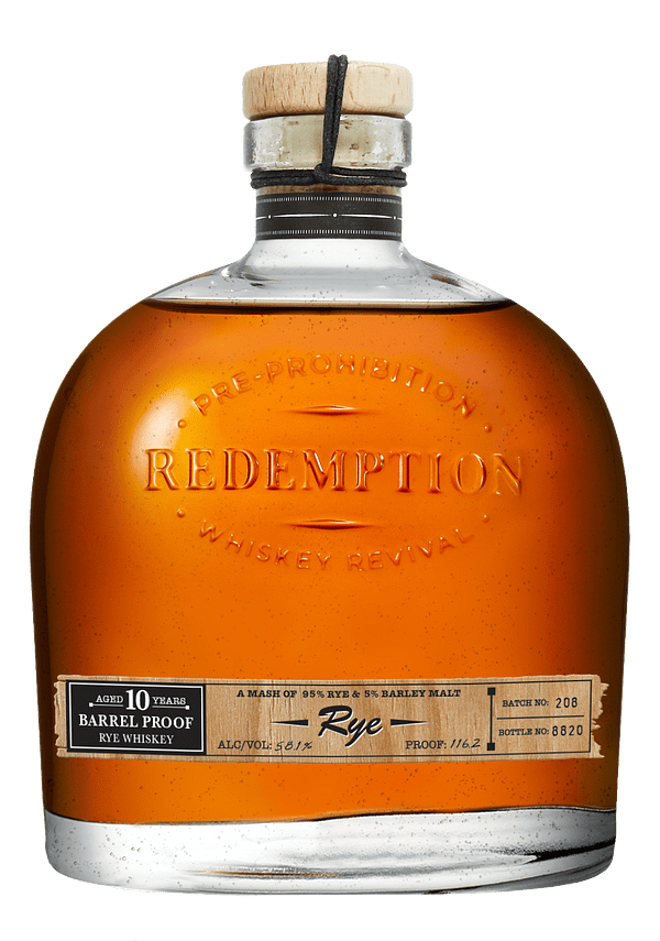 Redemption 10 Year Old Barrel Proof Rye Whiskey