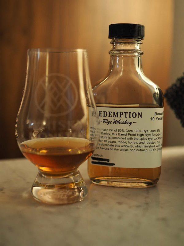 Redemption 10 Year Old Barrel Proof High Rye Bourbon