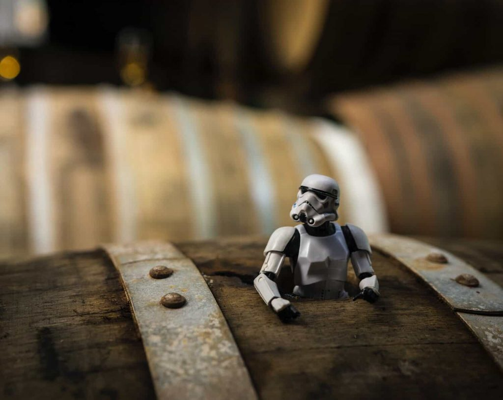 Scotch Trooper in a barrel